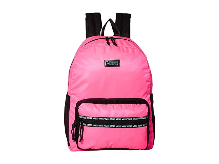 Vans  After Dark Reflective Backpack (Knockout Pink/Black) Backpack Bags
