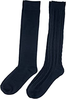 Altis Apparel Womens Cable Knee High Socks 2 Style Pack