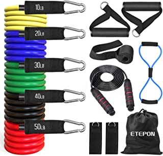 ETEPON Resistance Bands Set, Exercise Bands Set Stretch Workout Band with Handles