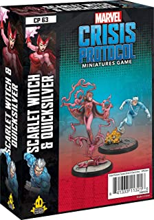 Marvel Crisis Protocol – Scarlet Witch and Quicksilver | Marvel Miniatures Game | Strategy Game for Teens & Adults | Ages ...
