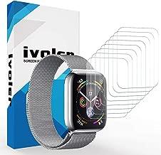iVoler [8 Pezzi] Pellicola Protettiva per Apple Watch 44mm / 42mm [Series 5/4 / 3/2 / 1], Wet Applied Protezione Schermo [Bubble-Free-Riutilizzabile] HD Clear Film in TPU