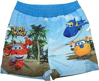 Costumi da Bagno Super Wings Aircraft Donnie Pantaloncini da Bagno Set di 2 Blu e Rosso per Ragazzi Jett e Jerome Pantaloncini da Bagno a Tema