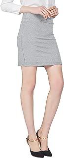 Women's Elastic Waist Stretch Bodycon Midi Pencil Skirt