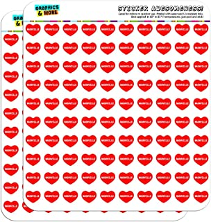 Graphics and More I Love Heart Nashville Planner Calendar Scrapbooking Crafting Stickers - 200 1/2