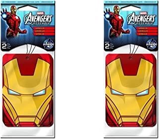 Iron Man Paper Air Freshener x 2 Packs (4 pcs Total)
