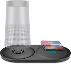 Soundlink Revolve Speaker Charging Cradle, Kuxiu 2in1 Desktop Charger Stand for Bose SoundLink Revolve/Revolve+ with Wireless Charging Pad for iPhone x/8Plus/8,Samsung Galaxy S9+/S9/S8+/S8/S7/S6 etc.
