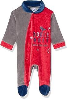 Papillon Velvet Stitched Letters Long-Sleeves Bodysuit for Boys