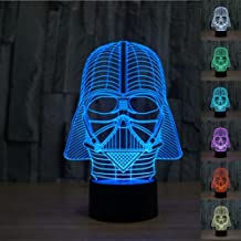Multi-colored 3D Illusion Night Lighting Touch Botton 7 Color Change Decor LED Lamp