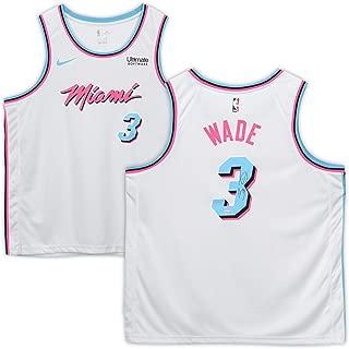Dwyane Wade Miami Heat Autographed White Vice Nike Swingman Jersey - Fanatics Authentic Certified - Autographed NBA Jerseys
