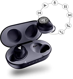 Boult Audio AirBass TrueBuds True Wireless Earbuds with Touch Controls & Mic, IPX7 Waterproof, Latest Bluetooth 5.0 Headphone, Auto Pairing & Playtime Upto 24 Hours with Case (Black)