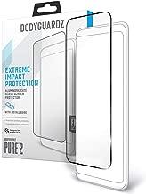 BodyGuardz - Pure 2 Glass Screen Protector (w/Border) for Samsung Galaxy S10e Premium Glass Screen Protection - CASE Friendly