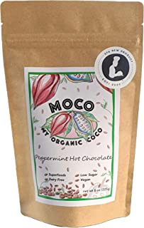 MOCO - My Organic Coco – Gourmet Peppermint Hot Chocolate Mix – Vegan & Gluten Free - 8 oz