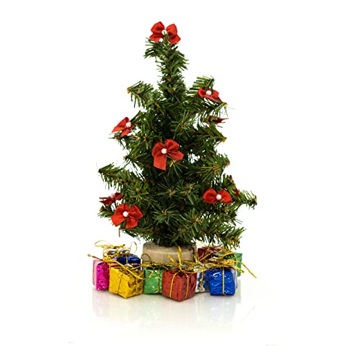 Darice 8-Inch Small Artificial Christmas Pine Tree with Wood Base (8 Inch Tree