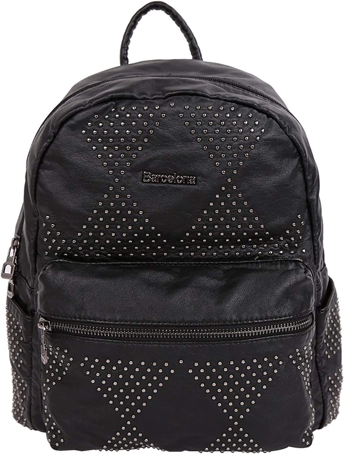 21K Middle Size Backpack PU Leather Multiple Layers Backpack XS160251