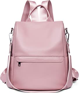 Genuine Leather Backpack Women Shoulder Bag Travel Casual Purse Anti Theft Waterproof
