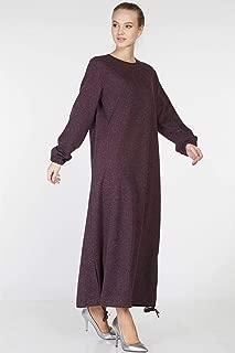 Tuğba Elbise-Mürdüm TK-Z9000-10