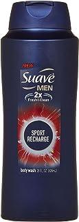 Suave 12オンス - メンズボディーウォッシュ、スポーツリチャージのために。 (4パック)