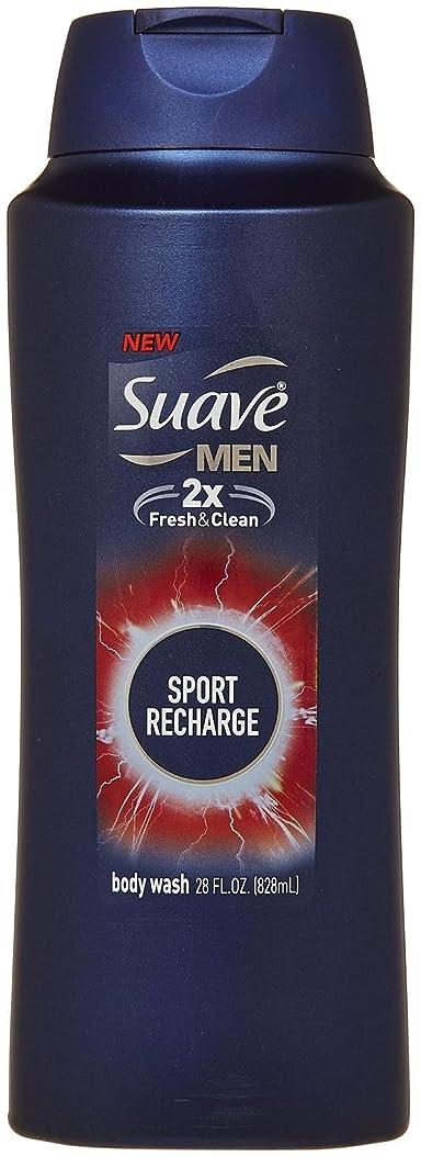 振動する触覚魔術Suave 12オンス - メンズボディーウォッシュ、スポーツリチャージのために。 (4パック)