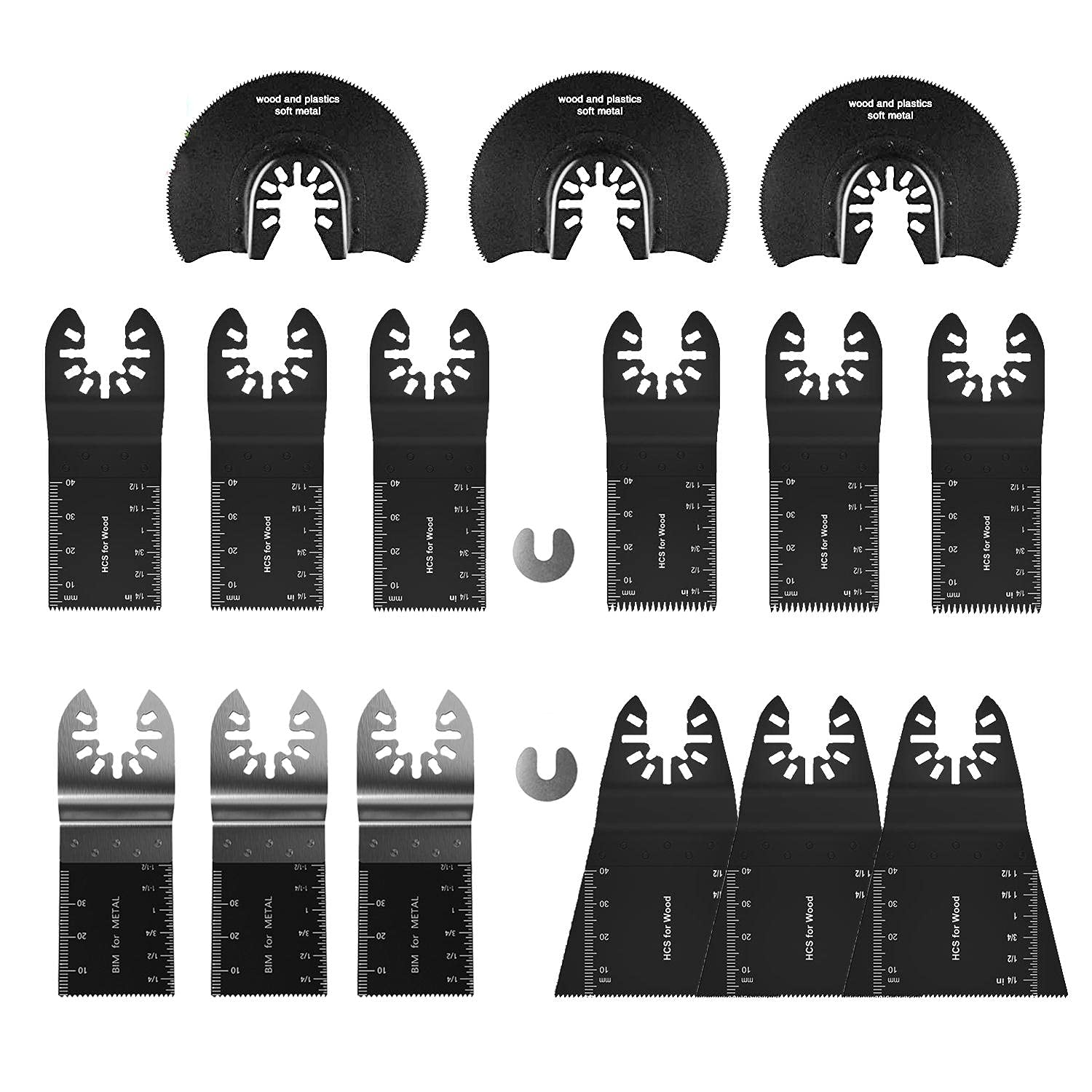 Oscillating Saw Super beauty Cheap mail order sales product restock quality top Kit - Ele 17pcs Blades Multitool