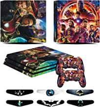 PS4 Pro Skins - Decals for PS4 Controller Playstation 4 Pro - Stickers Cover for PS4 Pro Controller Sony Playstation Four Pro Accessories with Dualshock 4 Two Controllers Skin - Ironman