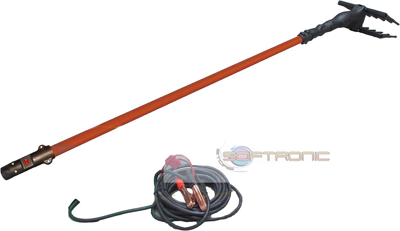 UNITED TRADE Recogeaceitunas vareador eléctrico potencia 140 W voltaje 12 V con barra extensible hasta 3 m cable 10 m montado con barra 15 m United Trade