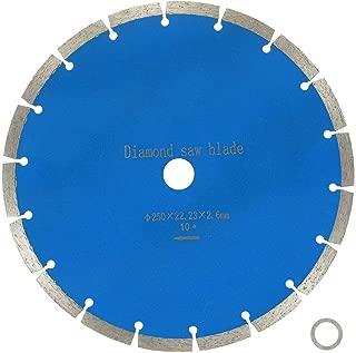 BlueCatELE 10-Inch Diamond Blade Segmented Diamond Saw Blade for Masonry Marble Concrete Tile