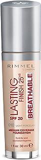 Rimmel Lasting Finish 25H Breathable Foundation 010 Light Porcelain Podkład do twarzy