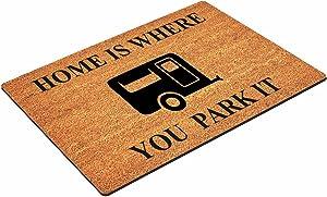 Tamengi Home is Where You Park It Class A RV Motorhome, Coconut Shell Floor mat, Multifunctional Doormat, Non-Slip Absorbent, for Home, Gym, Garage, Door