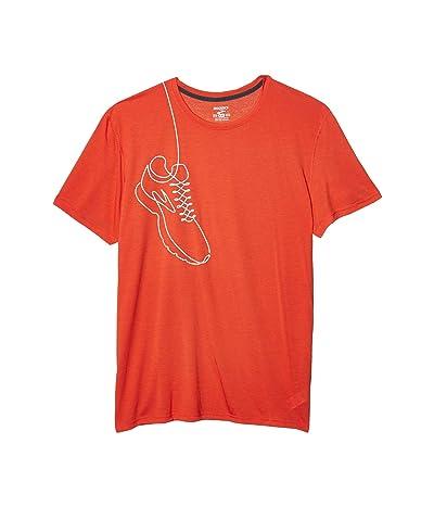 Brooks Distance Graphic T-Shirt (Heather Lava) Men