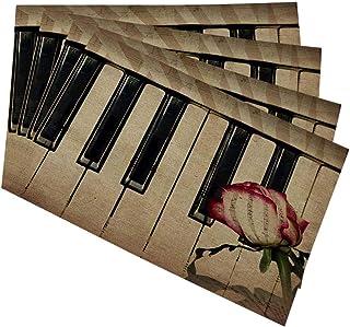 Mugod Piano Keyboard Placemats Part of Piano Keyboard and Re