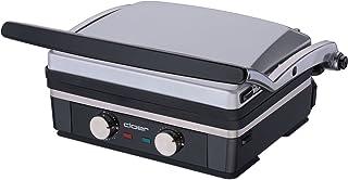 Cloer 6339 kontaktgrill rostfritt stål/1960 watt/värmeelement integrerad i grillplattan – tål diskmaskin