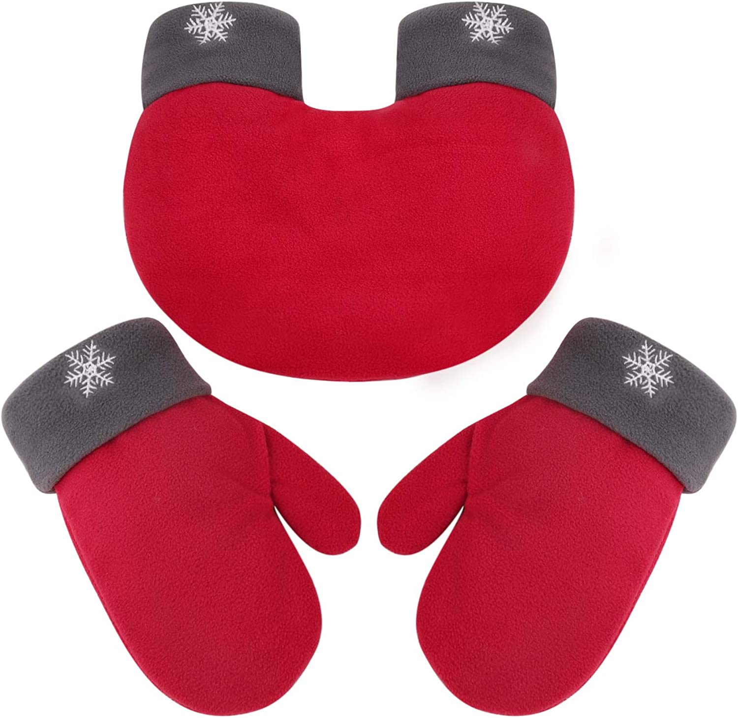 Christmas Lovers Couples Winter Gloves Thick Warm Mittens Valentine's Day Gift