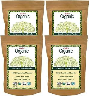 Radico 100% Organic Colorless Henna Powder, 100g (Pack of 4)