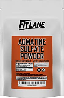Agmatine Sulfate Powder, Bulk Nitric Oxide Supplement, 250 Gram Value Sized Bag (333 Servings)