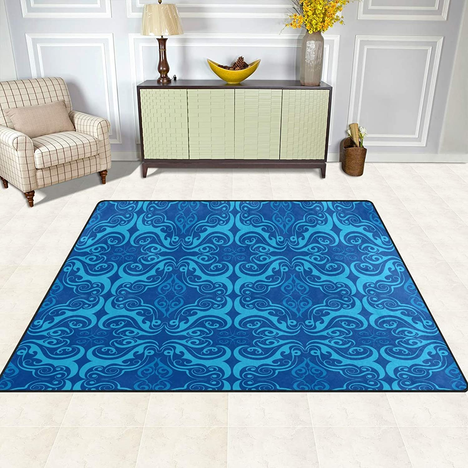 FAJRO European Floral bluee Background Rugs for entryway Doormat Area Rug Multipattern Door Mat shoes Scraper Home Dec Anti-Slip Indoor Outdoor