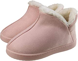 ChayChax Kids Indoor Outdoor Slippers Micro Suede House Shoes Boys Girls Winter Warm Fluffy Plush Slipper Boots with Anti-Slip Sole