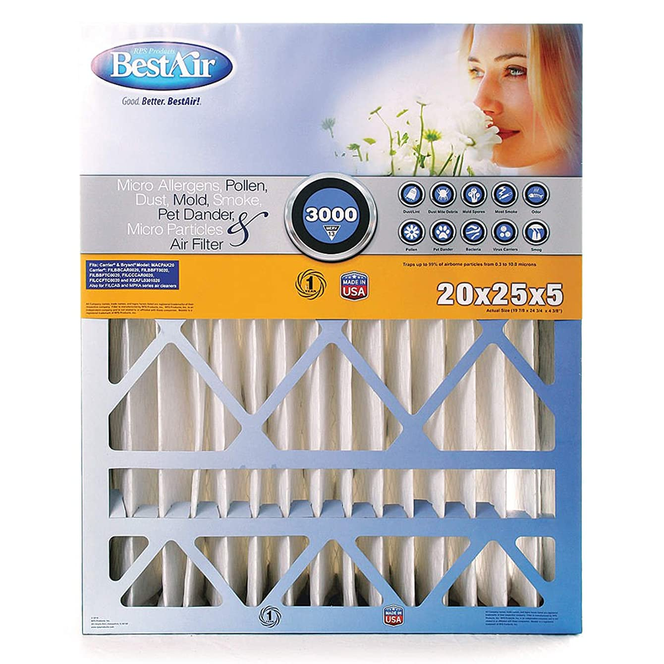 Air Cleaner Filter, 24x25x5