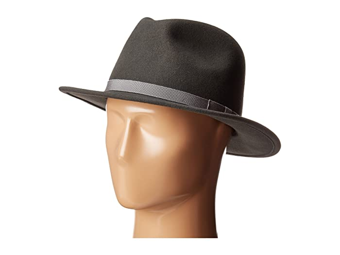 Country Gentleman Wilton Wool Fedora Hat (Slate) Caps