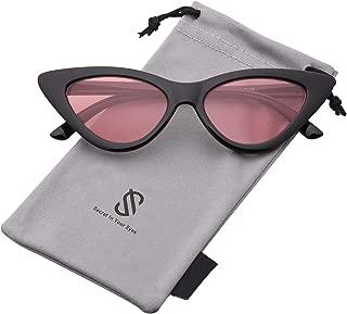 Cateye Sunglasses For Women Fashion Retro Vintage Narrow Clout Goggles Metal Frame