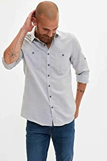 DeFacto Erkek Günlük Çift Cepli Slim Fit Gömlek