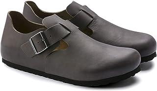 "Birkenstock ""London Natural Leather Graphite"