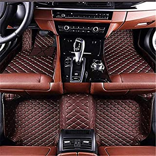 Jiyingshangmao Custom Fit Car Floor Mats for in-finiti JX Series 2011-2013 All Weather Waterproof Car Carpets(Coffee)