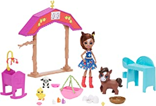 Enchantimals Barnyard Nursery Playset with Haydie Horse Doll (6-inch), Trotter Horse, 3 Additional Animal Figures, and 10+...