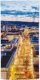 fotobar!style Duschduk 70 x 140 cm blick över den kungliga vägen i Stuttgart