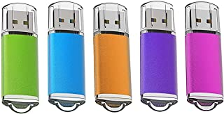 KOOTION 1G 5個セットUSBメモリ マイクロUSB フラッシュメモリー キャップ式 ストラップホール付き (五色:青、紫、緑、赤、オレンジ)二年間保証 …