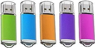 KOOTION 32GB 5個セットUSBメモリ マイクロUSB フラッシュメモリー キャップ式 ストラップホール付き (五色:青、紫、緑、赤、オレンジ)二年間保証