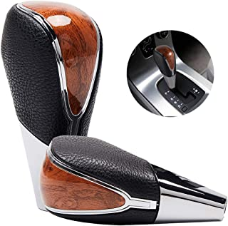 Semoss Universal Automatic Transmission Gear Shift Knob with Built-in Adaters 8mm 10mm 12mm Manual Shift Handle Lever Stick for Cars SUVs Trucks,Brown