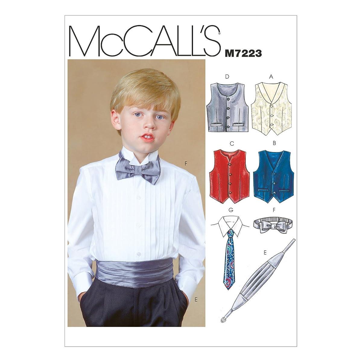 McCall's Patterns M7223 Children's/Boys' Lined Vests, Cummerbund, Bow Tie and Necktie Sewing Template, CHH (7-8-10-12)