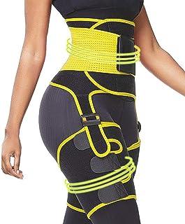 Dobiyar Upgraded High Waist Thigh Trimmer -3 in 1 Waist Trainer- Butt Lifter for Women - Adjustable Sweat Belt -Thigh Enha...