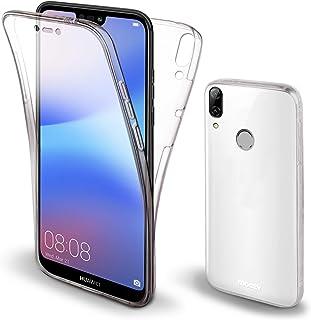 Moozy 360 度手机壳 适用于华为 P20 Lite - 全身正面和背面纤薄透明 TPU 硅胶盖